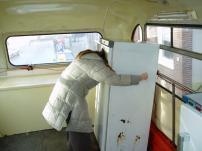 Kouwe Kermis, reizende expo in recycle koelkasten